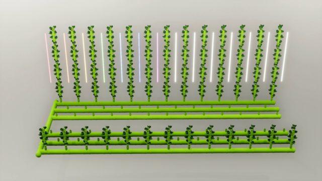 Modular Spiral Aeroponics* –  vertical Farming Lightings