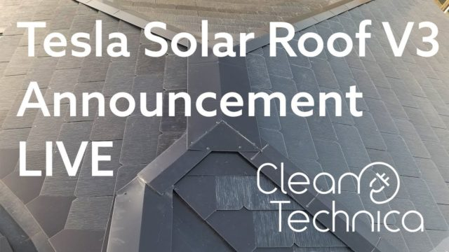 Tesla Solar Roof V3 Announcement Live