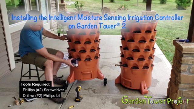Installing the Intelligent Moisture Sensing Irrigation Controller on Garden Tower 2