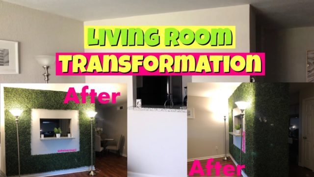 Why your home decor is BASIC! | DIY FAUX PLANT WALL | Living Room Transformation 2019