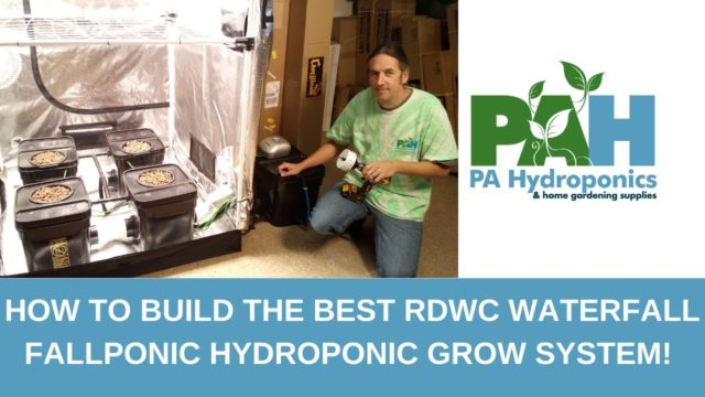 How to Build the Best RDWC Waterfall Fallponic Hydroponic Grow System!!