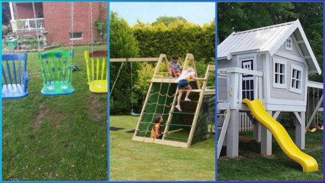 Amazing kids play house and garden ideas.