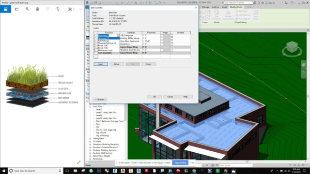 Revit – How to make a Green Roof with a Parapet Wall!