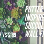 FARMHOUSE DECOR DIY   POTTERY BARN INSPIRED SUCCULENT WALL FRAME DIY   DOLLAR TREE DIY  