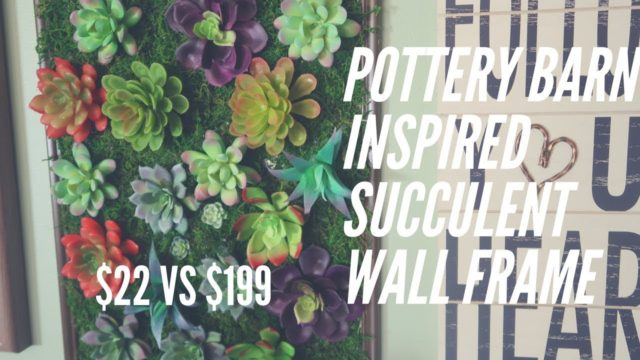 FARMHOUSE DECOR DIY | POTTERY BARN INSPIRED SUCCULENT WALL FRAME DIY | DOLLAR TREE DIY |