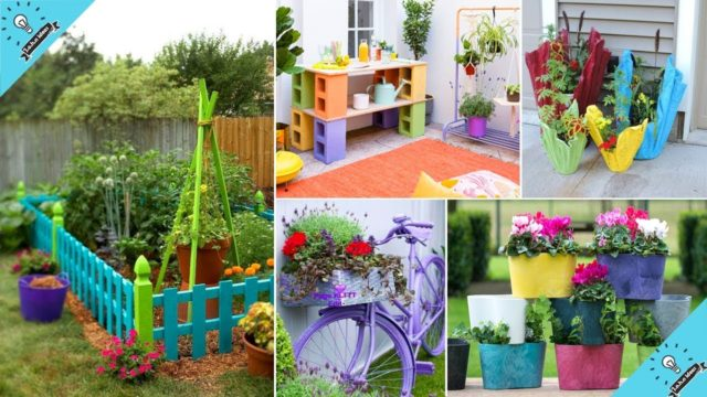 100 Bright DIY Painted Garden Decoration Ideas for a Colorful Yard