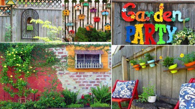 100 Creative Ideas for Garden Fence & Wall Decor | DIY Garden