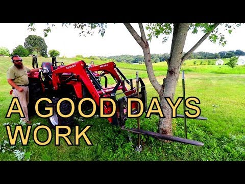 GARDENING, TREE TRIMMING AND TRACTOR WORK, FARM WORKDAY
