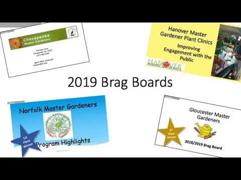 2019 Master Gardener College Brag Boards