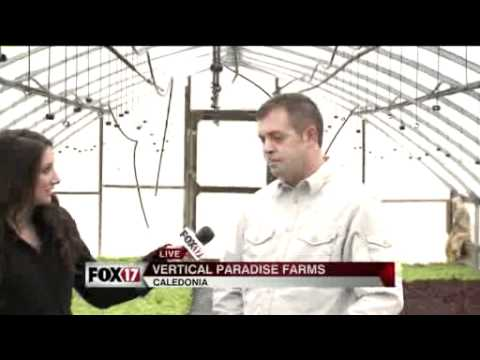 Fox 17 again visits Vertical Paradise Farms – Part 1