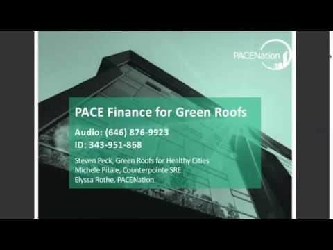 PACE Finance for Green Roofs [Webinar]