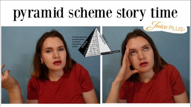 pyramid scheme story time | juice plus is a scam