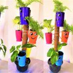 vertical cup garden/tower planter/smile cups ideas/ORGANIC GARDEN