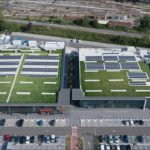 Geoplast Completa: Project supermarket extensive green roof in Bologna, Italy
