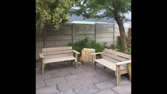 How to make pallet garden furniture in an afternoon a quick and easy way // woodworking How To Diy