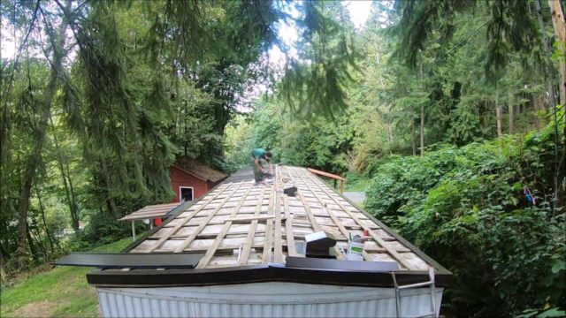 Install Metal Roof on a Trailer