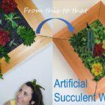 Artificial Succulent Wall DIY