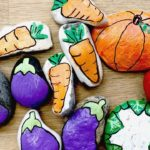Rock Painting Vegetables – learn how to paint stones as garden markers