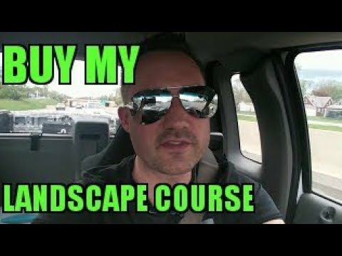 Check out my Landscaping video course