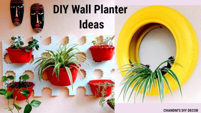 DIY Wall Planter Ideas || DIY Tyre Planter || Balcony Decor Ideas ||