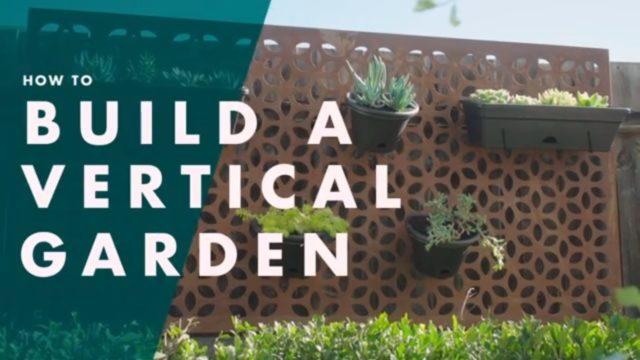 How To Make A Vertical Wall Garden