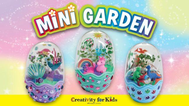 Kids Gardening Kit | Mini Terrarium | Unicorn, Dinosaur & Mermaid Themed | Creativity for Kids