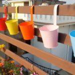 Home Garden | Railing Plant Teaser | Garden Decor | Tin Planters | Tin Pots | Nursery Items