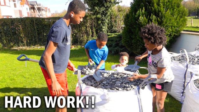 PUTTING THE KIDS TO WORK!