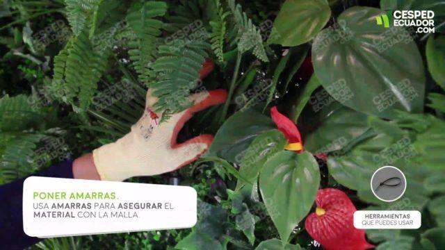 Jardín Vertical Artificial  🔨 Pasos de instalación en malla