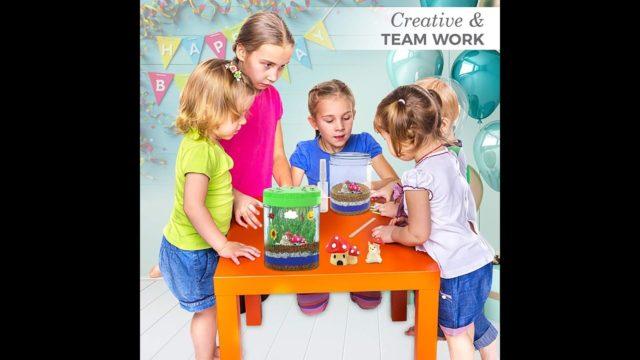 Merry Christmas 2019 : Gift Idea for Kids | Light-up Terrarium Kit for Kids LED Light on Lid