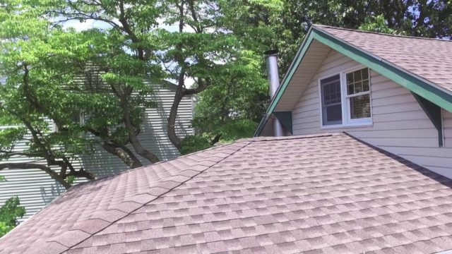 DRONE VIDEO OF GAF MISSION BROWN ROOF IN SEAFORD.