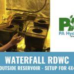 PA Hydroponics 4 Plant Fallponic Waterfall RDWC Setup with Reservoir Outside 4×4 Tent