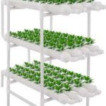 DreamJoy 3 Layers 108 Plant Sites Hydroponic Site Grow Kit 12 Pipes Hydroponic Growing System