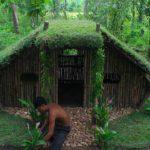 Jungle Men Build Beautiful Grass Roof House