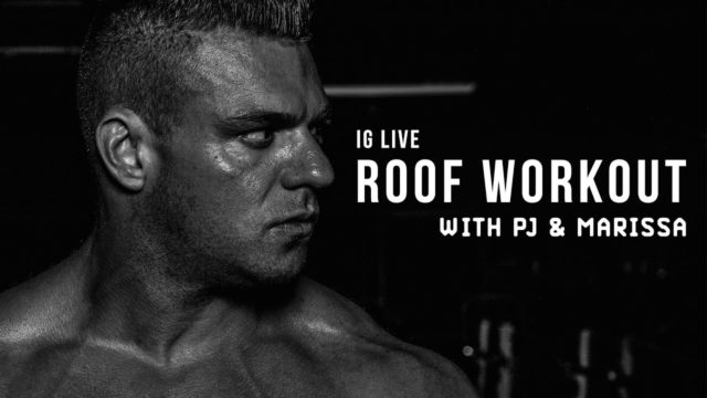 IG Live Roof Workout with PJ & Marissa