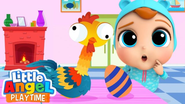 Counting Eggs with Crazy Hen   A Numbers Song   Little Angel Kids Songs & Nursery Rhymes