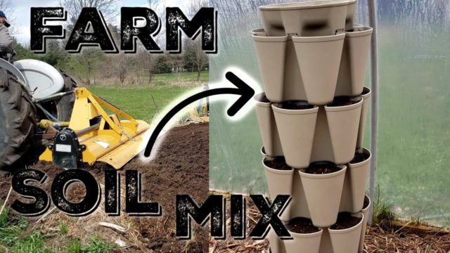 Farm Soil Mix For The Vertical Gardens
