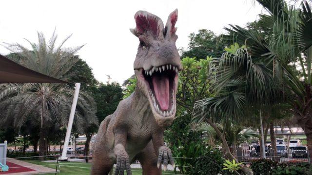Dubai glow garden| dinosaur park with kids| fun video for kids