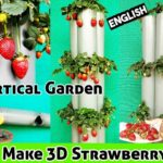Strawberry Tower DIY : How To Grow Strawberry In Vertical Garden At Home.