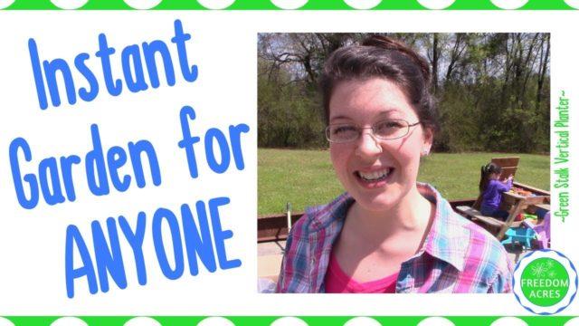 Green Stalk Vertical Gardening Planter ~ Easy Instant Garden for ANYONE