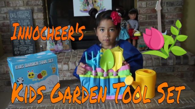 UNBOXING Kids Garden Tool Set – Sponsored by Innocheer @ Amazon.com
