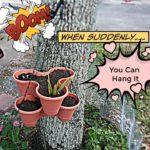 Dollartree 3 Tier Stackable Planter DIY Hanging planter  | Plant 7 plants | Vertical Garden