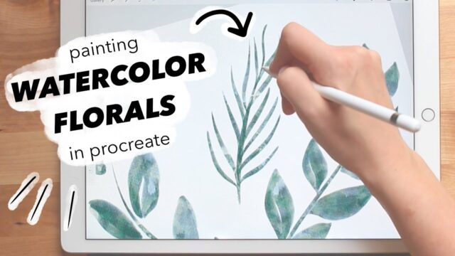How I Make Watercolor Clipart to Sell – PAINTING FLORALS IN PROCREATE TUTORIAL