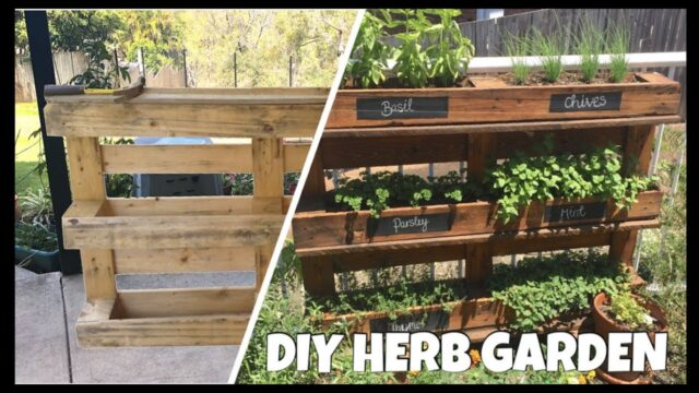 How To Make A Herb Garden From A Pallet  l  DIY
