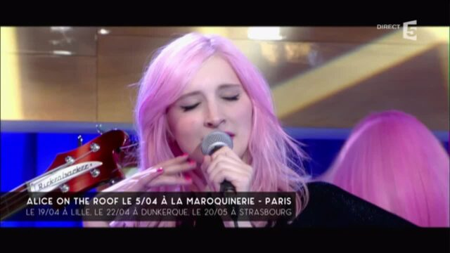Alice on the roof, en live – C à vous – 28/03/2016