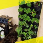 Making a free standing Vertical Wall Garden Planter for Strawberries