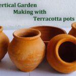 Vertical Garden Using Terracotta pots | Vertical Garden Making at Home//GREEN PLANTS