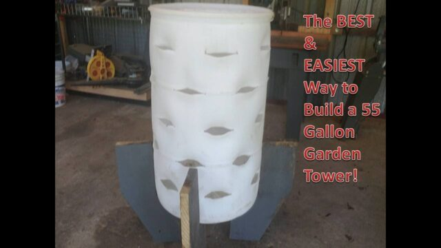 How to Build the BEST & EASIEST 55 Gallon Garden Tower Compost Barrel Ever
