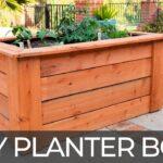 DIY Raised Planter Box (w/ Hidden Wheels) | Free Plans | How to Build