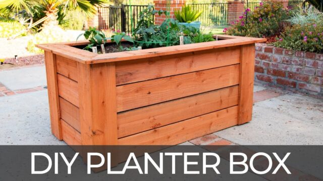 DIY Raised Planter Box (w/ Hidden Wheels) | Free Plans | How to Build